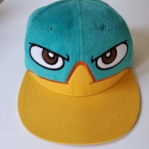 Phineas and Ferb Where's Perry Blue Snapback Cap P